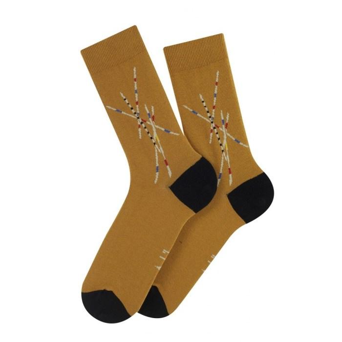 Mi-chaussettes motif Mikado en coton