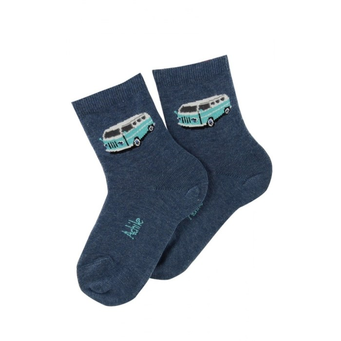 Mi-chaussettes motif Van en coton