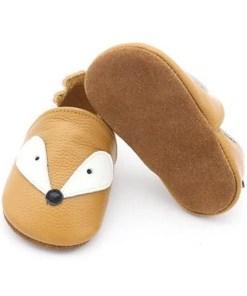 chausson cuire renard bébé original