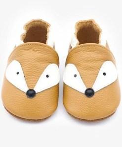 chausson cuire renard bébé rigolo