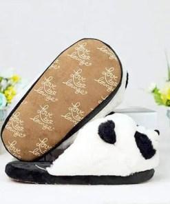 chausson femme panda semelle