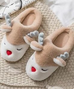 chausson femme rennes abricot