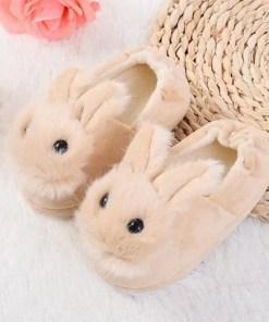 chausson lapin bébé naturel