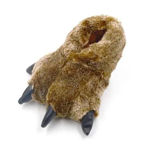 chausson patte d'ours brun clair