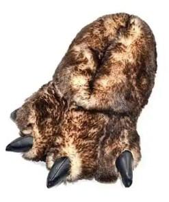 chausson patte d'ours brun
