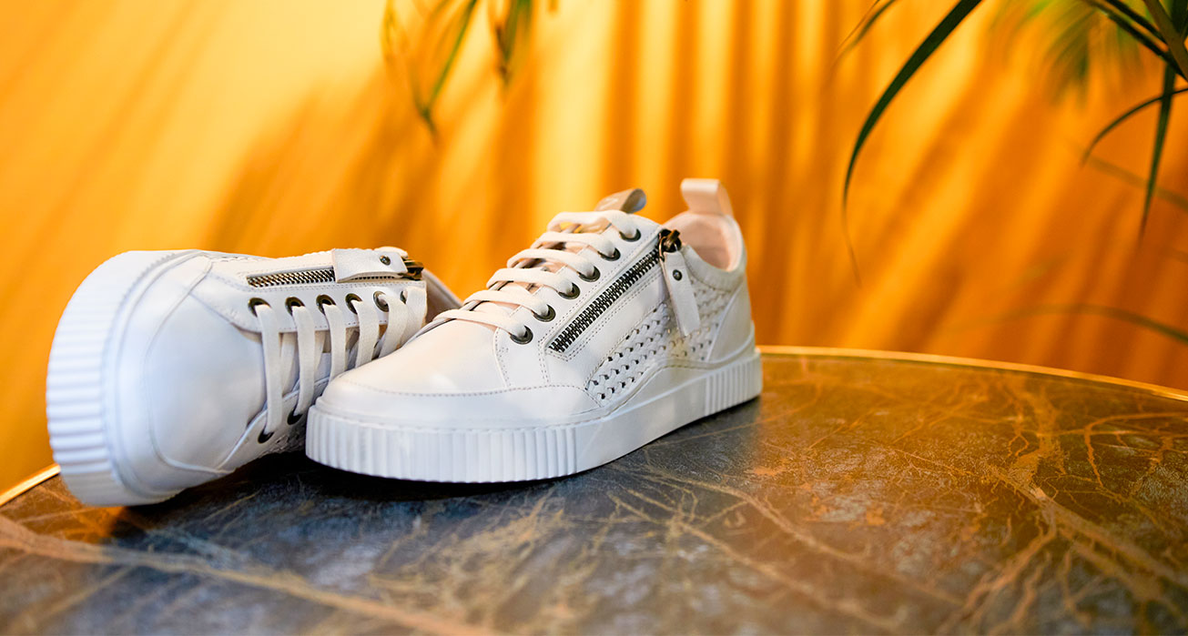 Baskets Idrac blanches REGARD Chaussures
