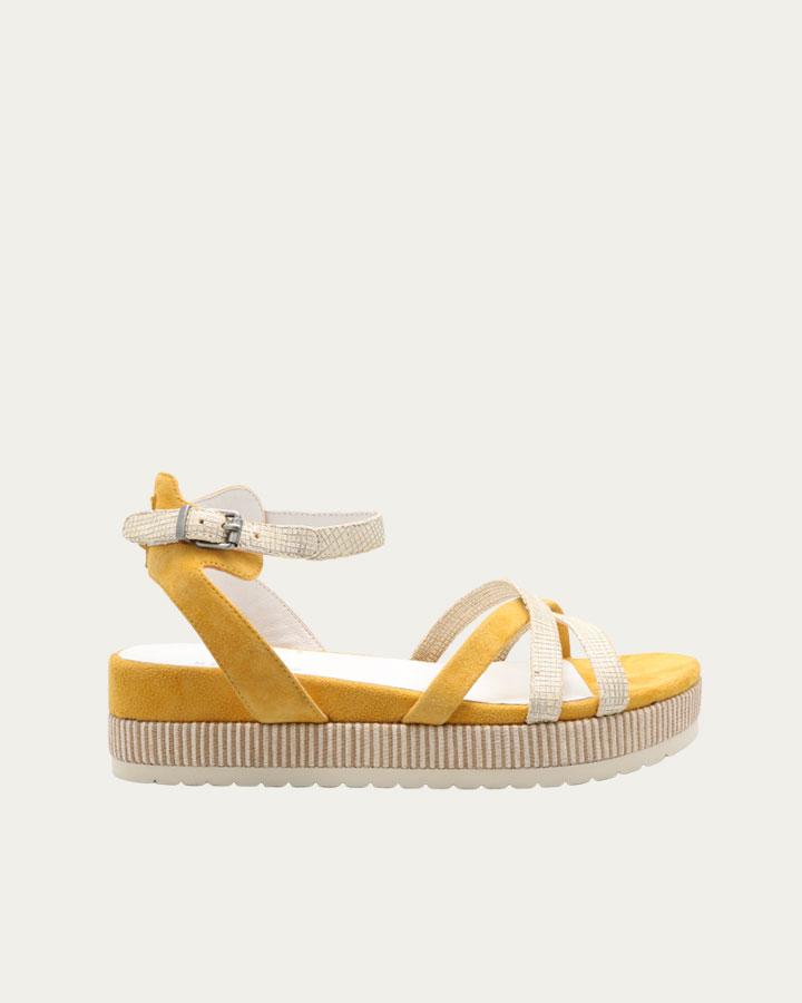 Sandale plateforme Cabourg jaune