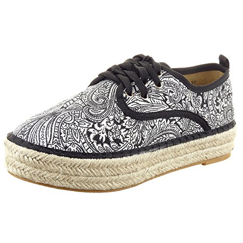 sopily chaussure mode espadrille baskets plateforme cheville femmes fleurs talon bloc 3 5 cm. Black Bedroom Furniture Sets. Home Design Ideas