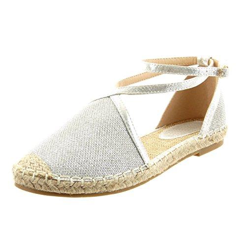 sopily chaussure mode espadrille sandale cheville femmes pailettes boucle lani re talon bloc 1. Black Bedroom Furniture Sets. Home Design Ideas
