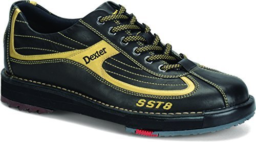 Dexter Men's SST 8 Wide Bowling Shoes, Black/Gold, 8.5 by Dexter