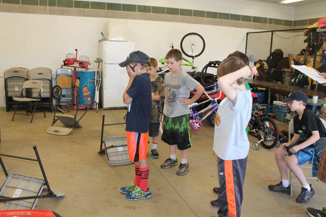 Children learn bike safety