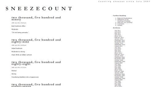 Sneezecount-Blog