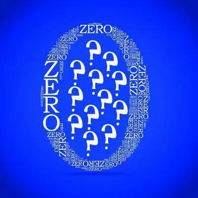 O número zero é tudo e nada