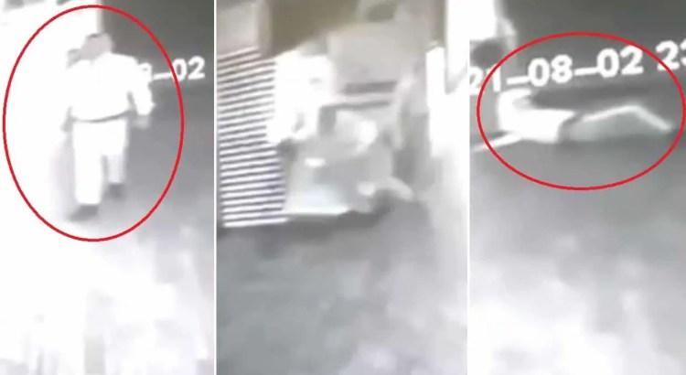 Prefeito colombiano publica vídeo de fantasma atacando segurança.