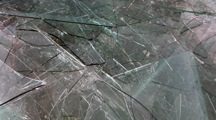 Shards of broken glass