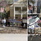 Our Chabad House was picketed by fellow Jews this Shabbat
