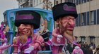 Belgian carnival float features puppets of grinning Jews, a rat and money bags