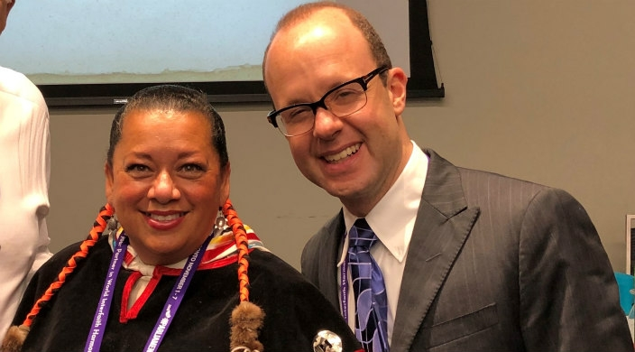 The author with Kim Wheatley, a member of Shawanaga First Nation