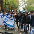 A picture is worth a 1000 words - NYU Zionist students cheer the deaths of Palestinians during a die in. They spit on and stepped on the protesters as well.
