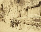Men and women at the Kotel, 1880