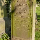 I saw this at a local Jewish cemetery and want to know what it means. (Königswinter, Germany)