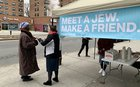 Meet-and-greet Popup Tent in Harlem Invites Locals to Meet Orthodox Jews: In wake of anti-Semitic attacks here, the 'Meet A Jew, Make A Friend' campaign was launched in an attempt to erase stereotypes.