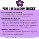 Today is the 105th anniversary of the Armenian genocide. We should remember the Armenian genocide, lest the world forget HaShoah