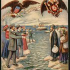 American Jews beckoning to their relatives in Russia (19th century Rosh Hashana card)