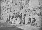 Jews may often be seen sitting for hours at the Wailing-place bent in sorrowful meditation over the history of their race ... Jews of both sexes, of all ages, and from all countries, assemble in large numbers to kiss the sacred stones and weep outside the precincts they may not enter. (1894)