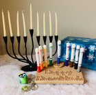 I know it's only October but I just started on this years batch of Marker Menorahs. I make them in the basement. Sometimes my kids help.