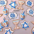 Made some Hanukkah cookies for my family!