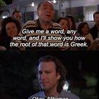 Heimish Humor on Seder customs originating in Greek (Seder = Symposium)