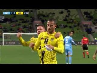 Tomer Hemed (Wellington Phoenix) celebrates goal by putting on a kippah and saying the Shema