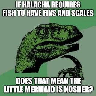 Heimish humor on kashrut of aquatic species