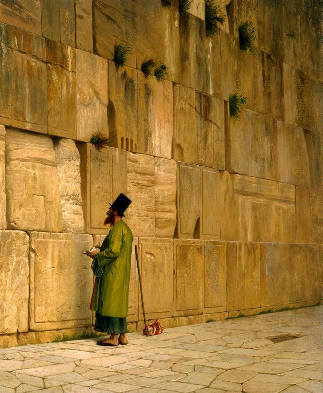 The Wailing Wall (1867), Jean-Léon Gérôme, [3696 x 4500]