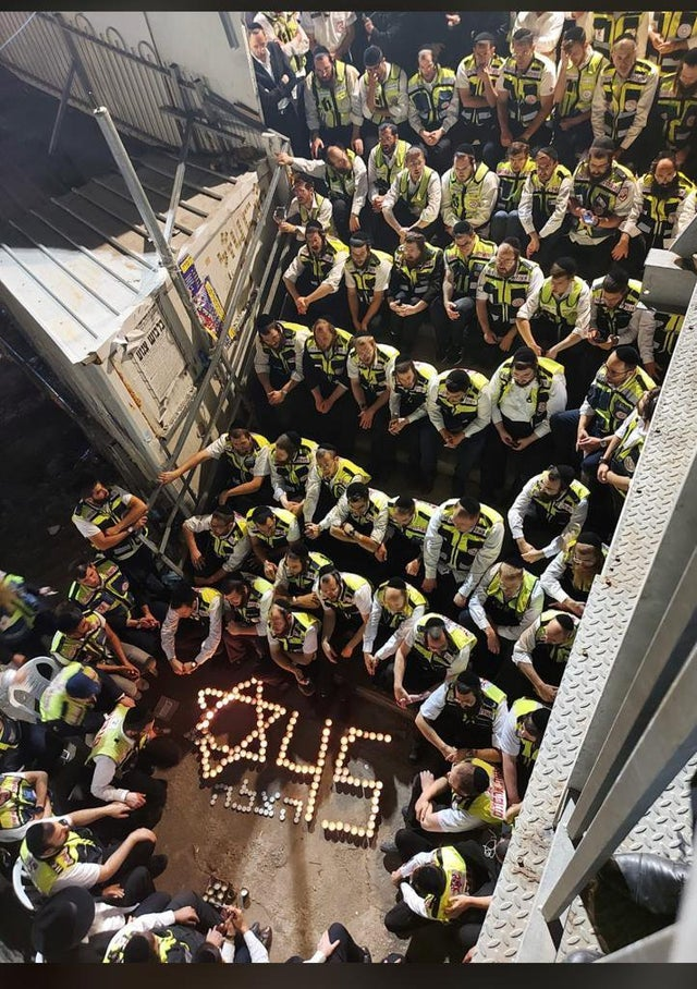Watch: 150 Hatzalah Volunteers Who Treated Meron Victims Gather At Scene Of Tragedy To Sing Ani Maamin