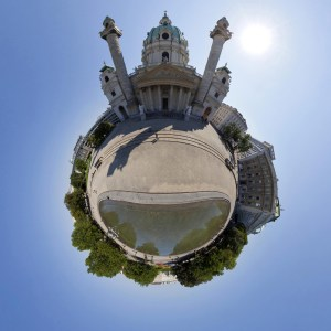 little planet - Karlsplatz in Wien