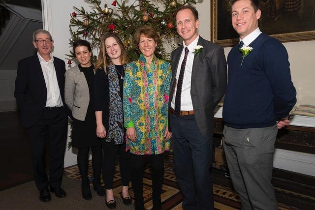 Savills team with the CHCT Chairman, Caroline Tetley. (l-r) Piers Owen, Anna Sharp, Emma Trelawny, Caroline Tetley, Ben Davies and David Jenkin.