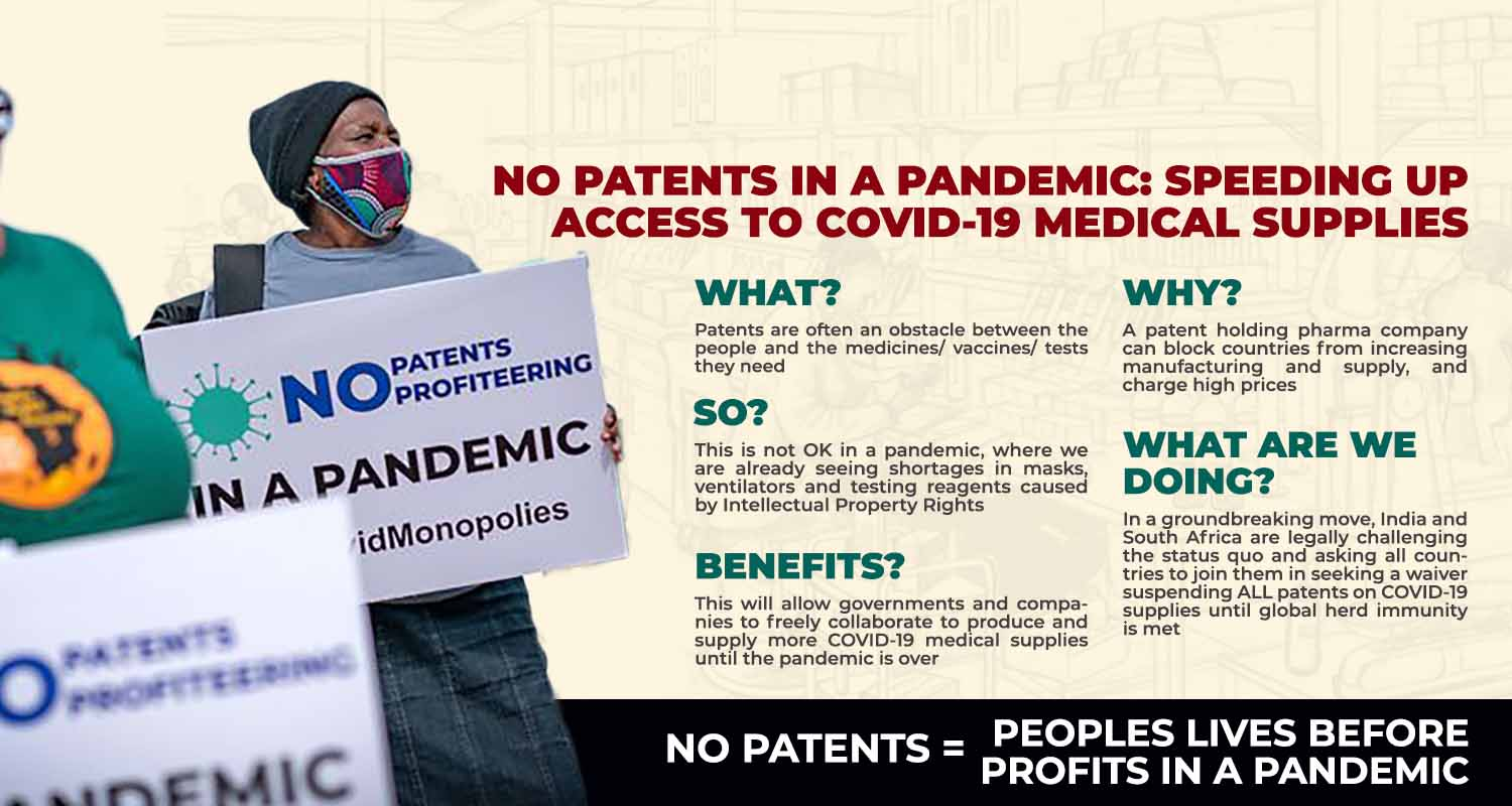 NO PATENTS IN A PANDEMIC – CHD Group