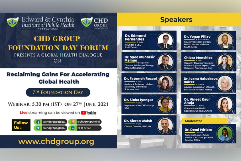CHD Group 7th Foundation day - Reclaiming Gains For Accelerating Global Health