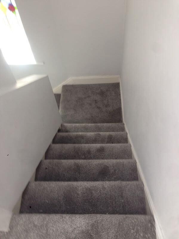 New Landing And Stair Carpet In Cheadle Cheadle Floors Floor | Grey Carpet Stairs And Landing | Teal | Open Plan | Pinterest | Commercial | Wall