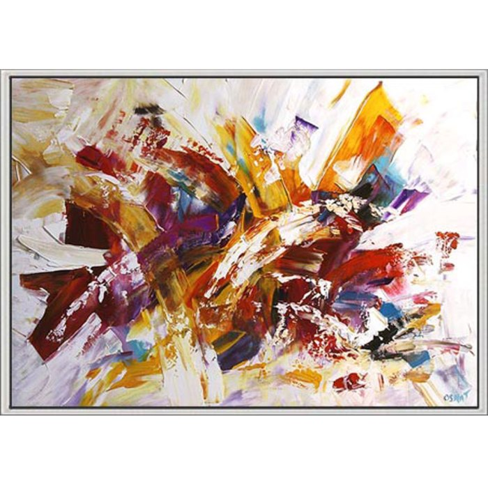 maleri mange farver med svæveramme