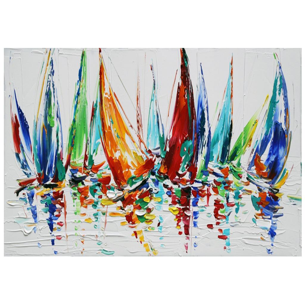 color boats - abstrakte malerier