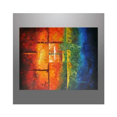 Abstrakt maleri mange farver