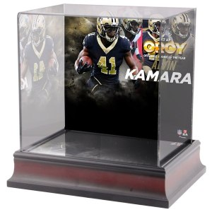 New Orleans Saints Alvin Kamara Fanatics Authentic 2017 Offensive Rookie of the Year Deluxe Mini Helmet Case
