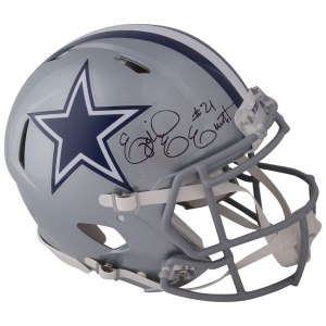 Autographed Dallas Cowboys Ezekiel Elliott Fanatics Authentic Riddell Speed Authentic Pro-Line Helmet