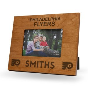 Philadelphia Flyers Sparo Brown 9.75'' x 7.75'' Personalized Wood Picture Frame