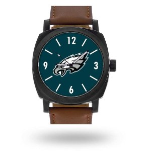 Men's Philadelphia Eagles Sparo Brown Personalized Strap Watch