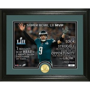 Philadelphia Eagles Nick Foles Highland Mint Super Bowl LII Champions Quote Bronze Coin 13