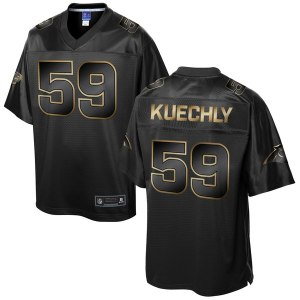 Men's Carolina Panthers Luke Kuechly NFL Pro Line Black Gold Collection Jersey